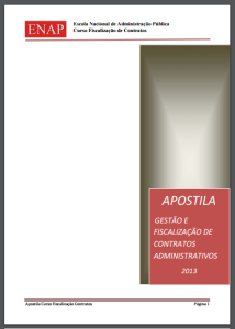 CAPA APOSTILA 2013